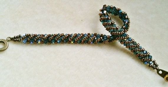 PATTERN Annie's Bracelet Right Angle Weave RAW by BaublesbyBalonis