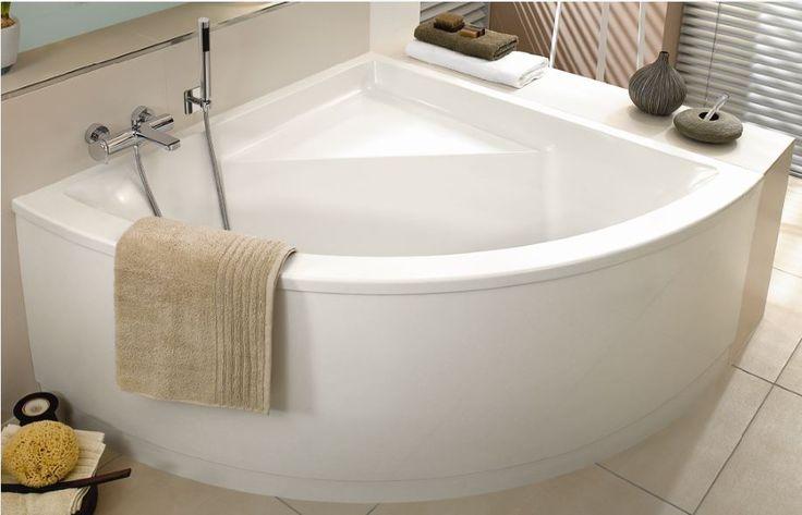 Meer dan 1000 idee n over hoekbad op pinterest badkuipen hoekbad en badkamer - Foto kleine moderne badkamer ...