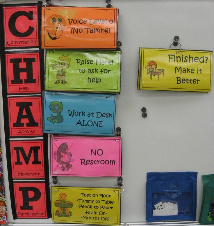 CHAMPS- flip charts for each activity instead of individual posters. This is a great way to cover all possibilities!!!
