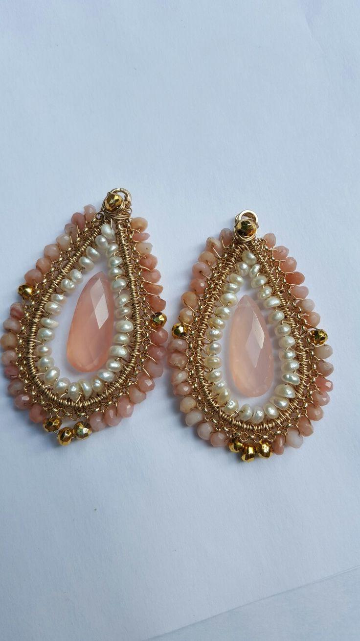 Roze opaal met chalcedoon