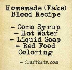 Homemade Fake Blood — craftbits.com #halloween