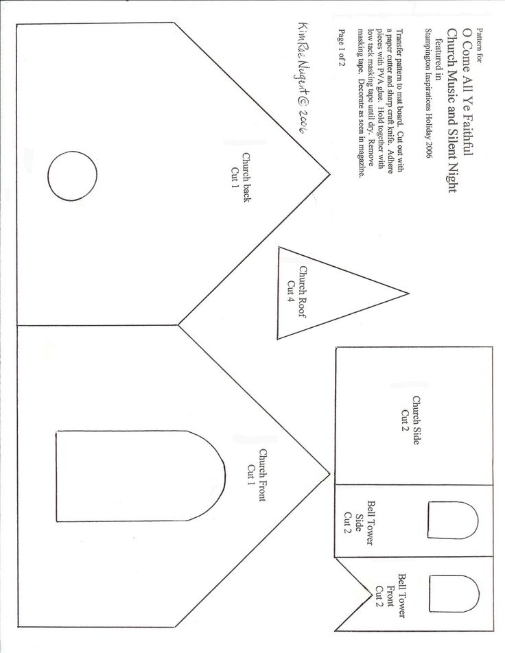 101 best ideas about putz glitter house templates on for House patterns