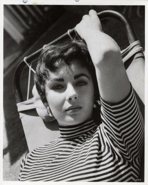 Elizabeth in stripes