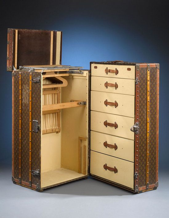 Vintage Louis Vuitton wardrobe trunk. Gorgeous!  You just made my Wish List!!!