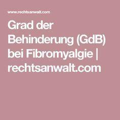 Grad der Behinderung (GdB) bei Fibromyalgie | rechtsanwalt.com