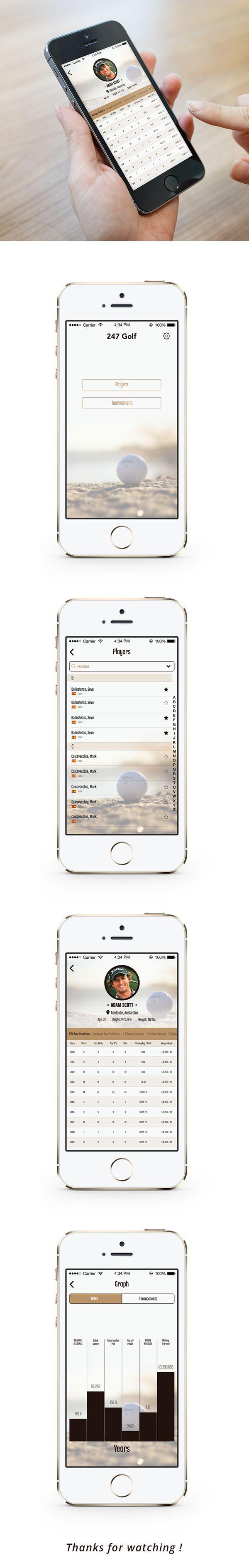 Golf App on Behance