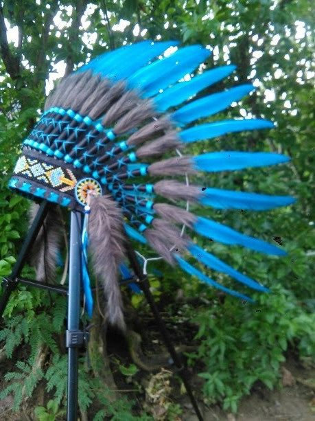 Blue Baby Native American Headdress Toddler by TheLandOfCockaigne