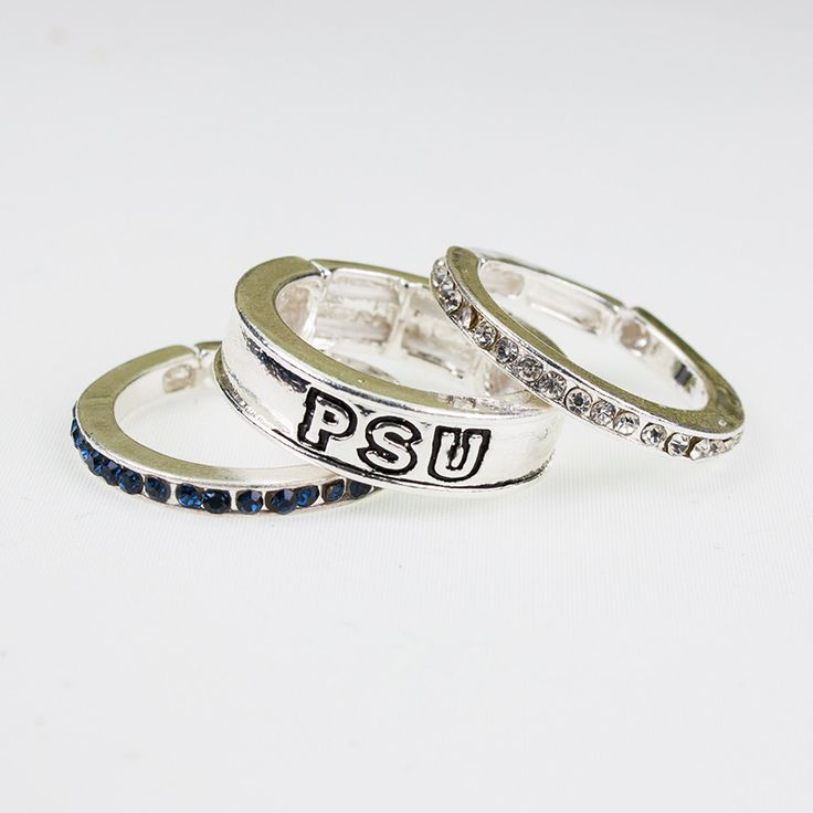 Penn State Stackable Stretch Ring Trio Set