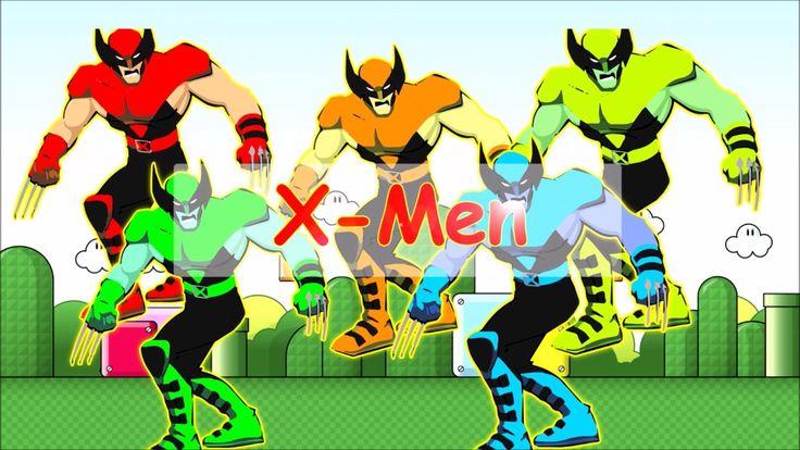 X men Finger Family  Nursery Rhymes Song