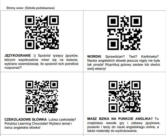W tym tygodniu obchodzimyEuropejski Tydzień Języków (23-27.09).Superbelfrzy RP przygotowali gotowe materiały - zestaw kodów QR do wykorzystania z uczniami w szkole. Jest to doskonałe źródło spr...