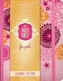 NIV Holy Bible For Girls Journal Edition Pink Elastic Closure
