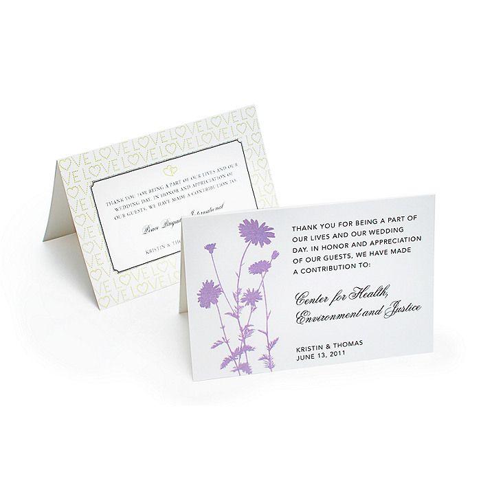 24 Best Wedding Donation Cards Images On Pinterest