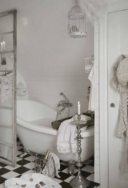 80 best Bathroom images on Pinterest Bathroom, Bathrooms and - shabby chic badezimmer