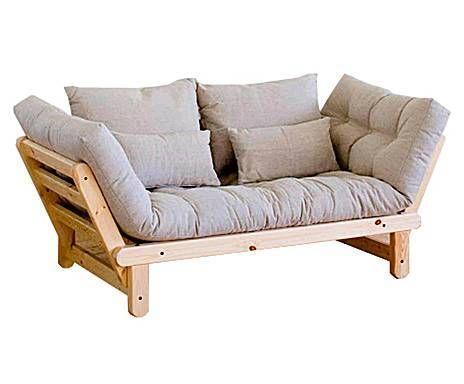 karup divano futon multifunzionale beat natural beige