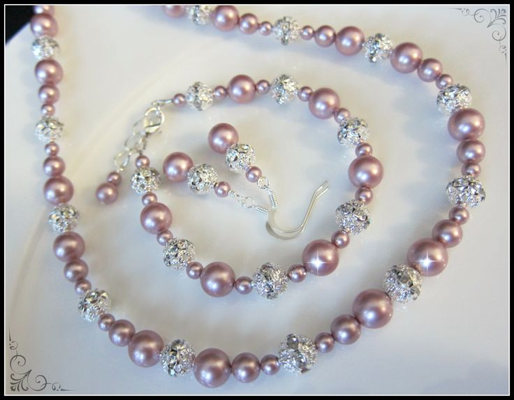 Wedding Jewelry Set, Pearl Wedding Jewelry Set, Rhinestone Wedding Jewellery, Bridesmaid set, Pink wedding theme, Maid of honour gift set by ForMyBridesmaid on Etsy https://www.etsy.com/listing/183738886/wedding-jewelry-set-pearl-wedding