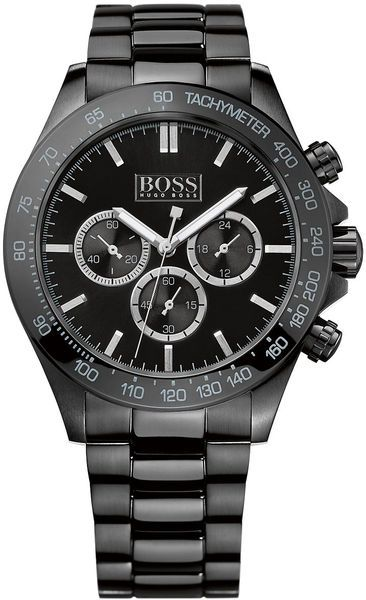 ♠ GENTLEMEN'S CLUB ♠ Hugo Boss Mens Black Steel Bracelet Watch in Black for Men