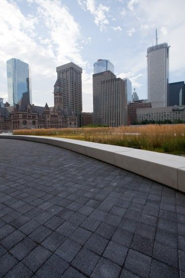 Unilock - City Hall roof deck featuring Series 3000 paver by Unilock