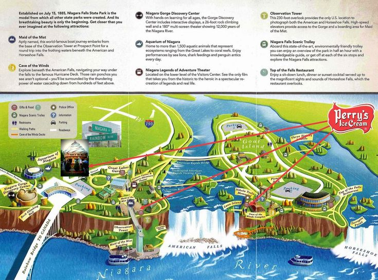 The 25 Best Niagara Falls Map Ideas On Pinterest