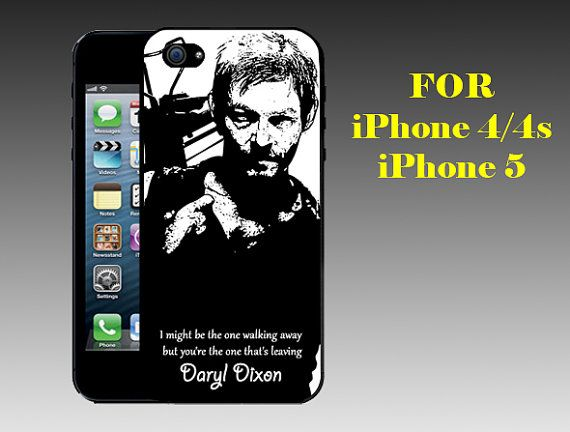Daryl Dixon Quotes - Print on Hard Cover iPhone 5 Black Case - iPhone 4/4s Case - Please Leave a Note For the Type Case and Color Case