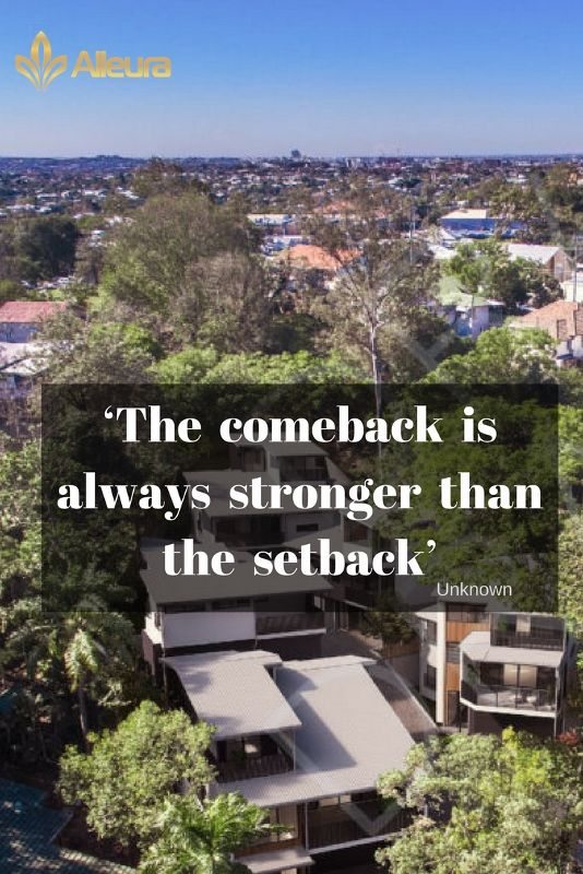 Inspirational Quote 'The comeback is always stronger than the setback'