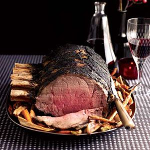 Coffee and prime rib seem like unlikely partners, but Ryan Farr's recipe reveals they both have an earthy quality that makes them a natural match. Just be sure to scrape off any excess coffee rub from the meat before serving.