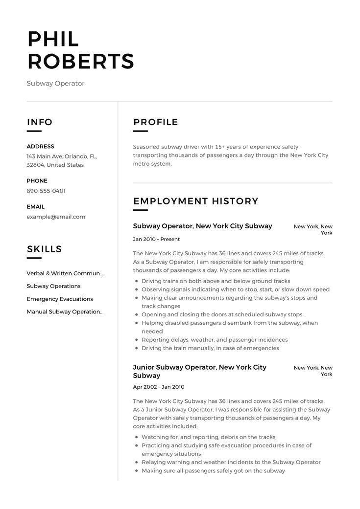 Basic Resume Examples Minimalist Resume Examples In 2020 Resume Examples Professional Resume Examples Veterinary Technician