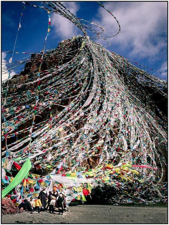 Colorful flag in Tibet, It's so beautiful! #tibettour #tibettravel #tibet #tiebtan #tibettourpackage