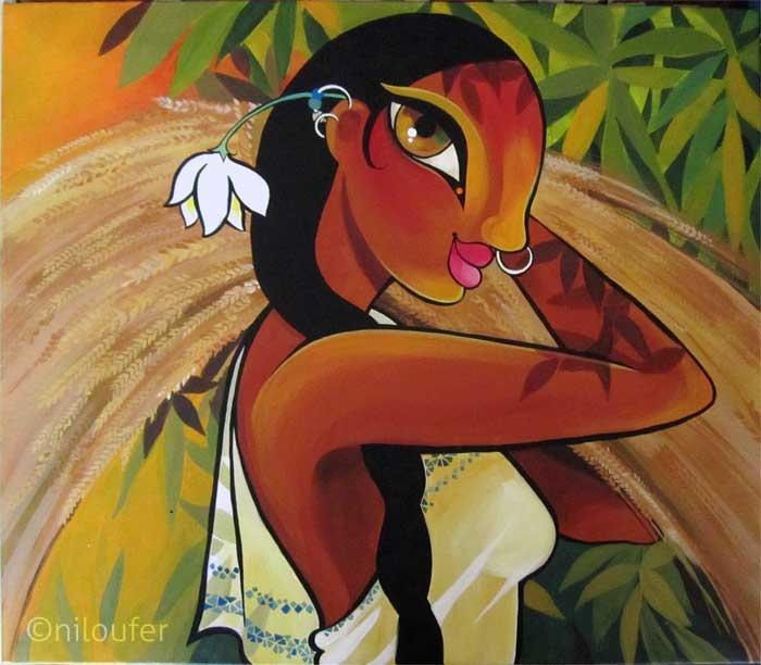 Harvest - Acrylics on Canvas  Niloufer Wadia