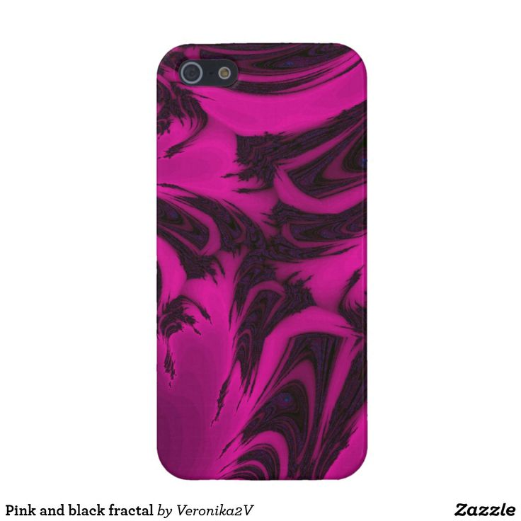 Pink and black fractal case for iPhone SE/5/5s, photo, photography, artwork, buy, sale, gift ideas, pink, black, spots, fractal, magenta, bright, purple, colorful, dark, abstract,  skin, skins, case, cases, gadget, gadgets, decor, design,  apple, phone, phones,  iphone