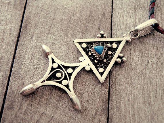 Tuareg cross tuareg necklace Long necklace Afghan by CarmelaRosa