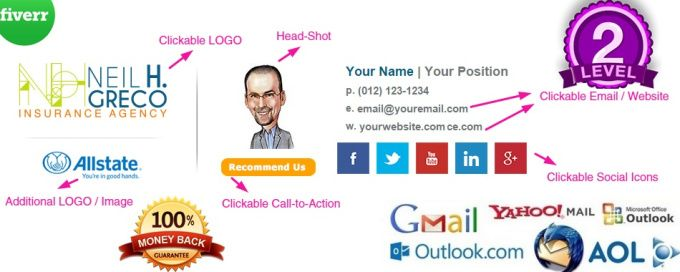 how to change outlook mail signature