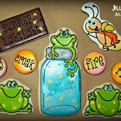 fire fly summer cookies by Jill FCS