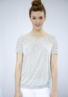 Josephine Top with Lace by Rosemunde, £95. The Josephine Top is a stunning jersey top with a gorgeous elaborate lace detail at the top. Looks great with jeans or linen trousers for a chic spring look. Comes in grey and black.