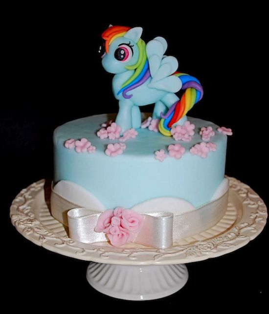 Rainbow Dash cake by Barbara Vichi cake my little pony cake birthday party cake girl pink blue rainbow cookie cupcake