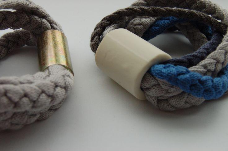 Bracelets in cotton- metal and cotton-ceramics- particular-www.scicche.it