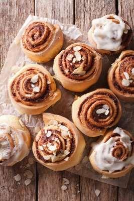 Cinnamon rolls ολικής με μπαχαρένιο γλάσο