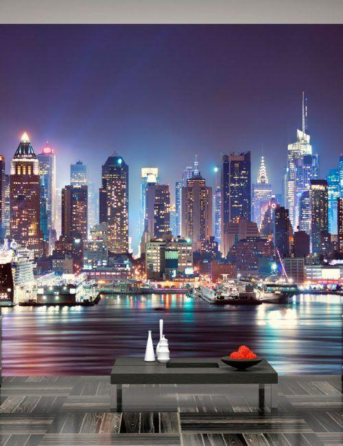 Carta da Parati Brooklyn Notte Carta da Parati Fotomurale Tema Viaggi