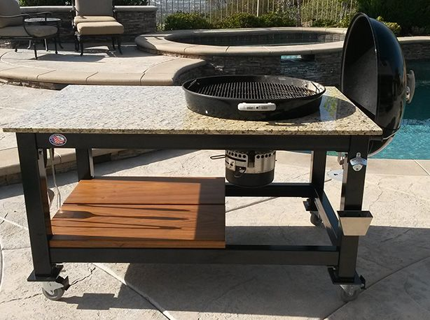 Custom Weber Grill Table | Brian Alan Tables