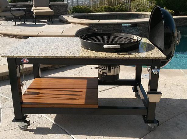 Custom Weber Grill Table | Brian Alan Tables