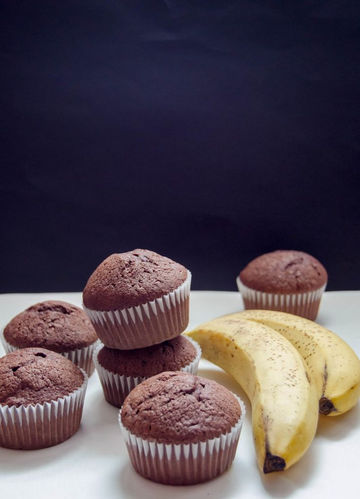 These chocolate banana muffins are moist, fluffy and fragrant, absolutely delicious!