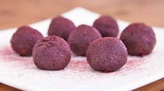 Acai Berry Bliss Balls 1½ tbsp Coconut Oil 1/3 cup Bioglan Acai + Berry Powder 2 tbsp Cacao Powder 2 tbsp cacao nibs 2 tbsp palm sugar 8 large dates 1 tbsp almond Butter 1 pinch sea Salt (optional)