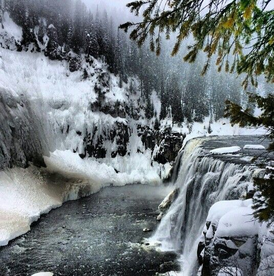 Mesa Falls In Ashton, Idaho