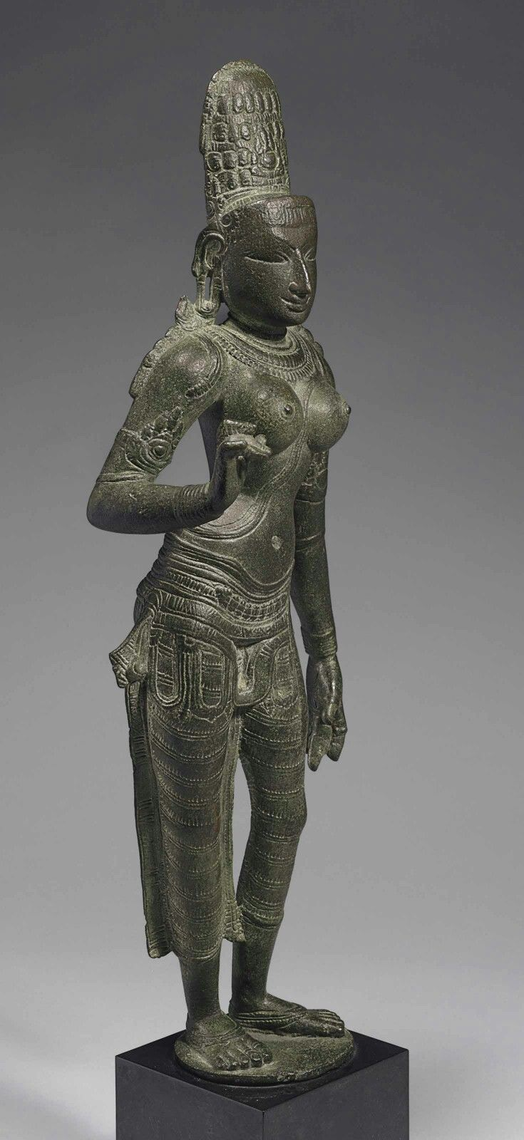 A BRONZE FIGURE OF PARVATI SOUTH INDIA, CHOLA DYNASTY, CIRCA 1200.