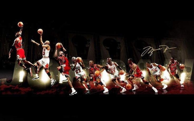 "Michael Jordan Wings NBA Basketball MVP Star Art 22""x14"" Poster"
