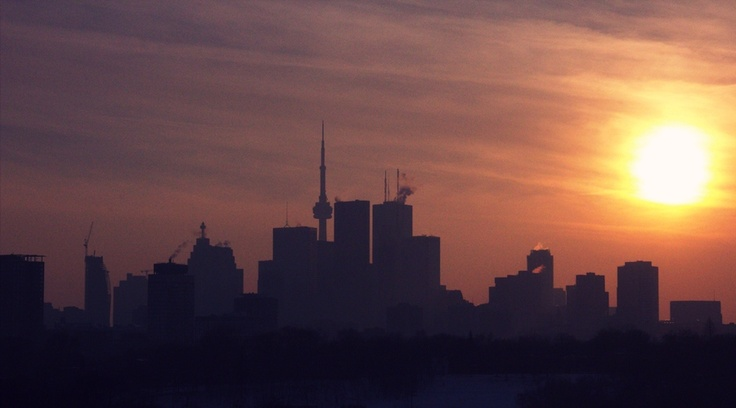 Winter Afternoon in Riverdale Park East, Toronto