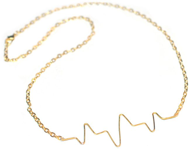 "DIY ""heartbeat"" necklaceCrafts Ideas, Beats Necklaces, Diy Necklaces, Diy Heartbeat, Jewelry, Spy Diy, Wire Necklace, Heart Beats, Heartbeat Necklaces"
