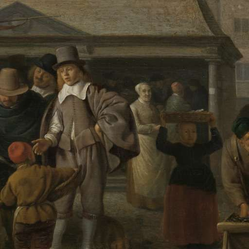 De vismarkt, Hendrick Martensz. Sorgh, 1650 - 1670 - Zoeken - Rijksmuseum