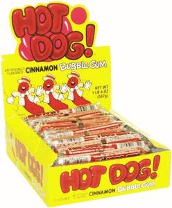 Hot Dog Cinnamon Gum...baseball party