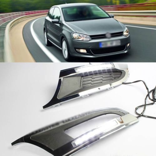 189.05$  Watch now - http://alibsz.worldwells.pw/go.php?t=1792413925 - New To Be Seen LED Daytime Running Light Fog Light Slot DRL for VW Polo 2012 189.05$