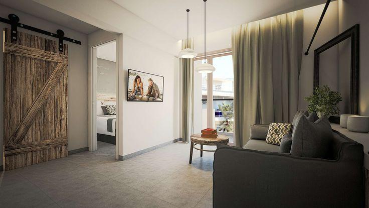 Vrachos Junior Suite - Living Room, Elakati Luxury Boutique Hotel, Rhodes , Greece